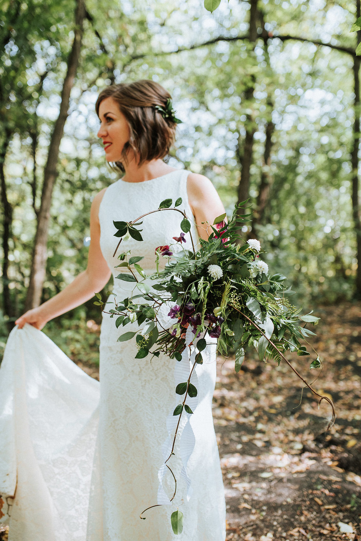Greenery Bridal Bouquet - Stone House Creative