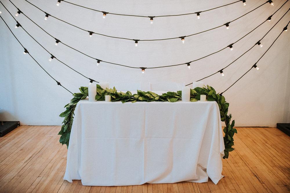 Sweetheart Table Decor - Wedding Florists Winnipeg