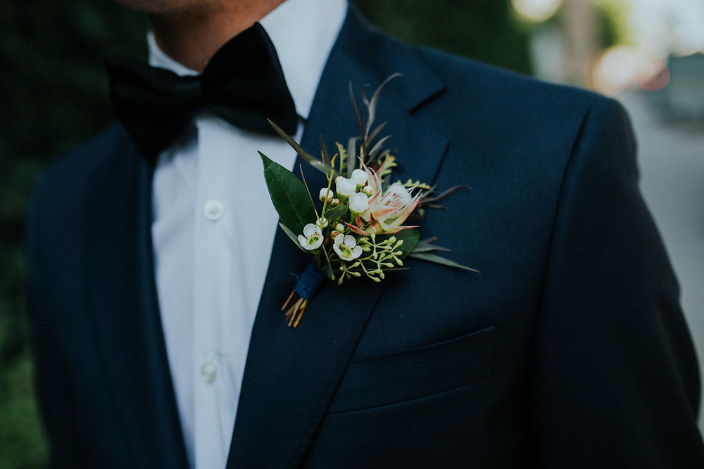 Textured Wedding Boutonniere - Winnipeg Wedding Florist
