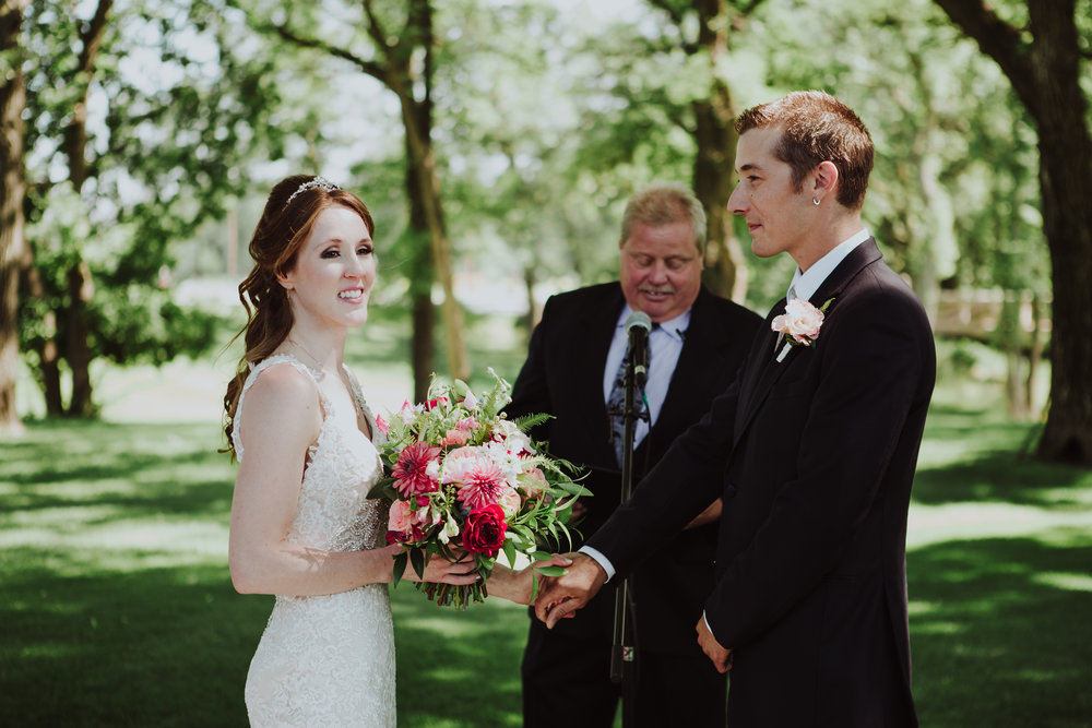 Wedding Florists Winnipeg - Outdoor Wedding Ceremony