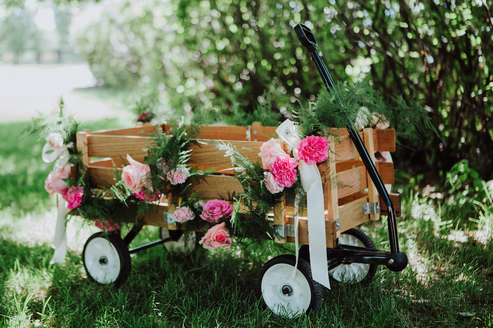 Flower Girl Wagon - Wedding Flowers Winnipeg
