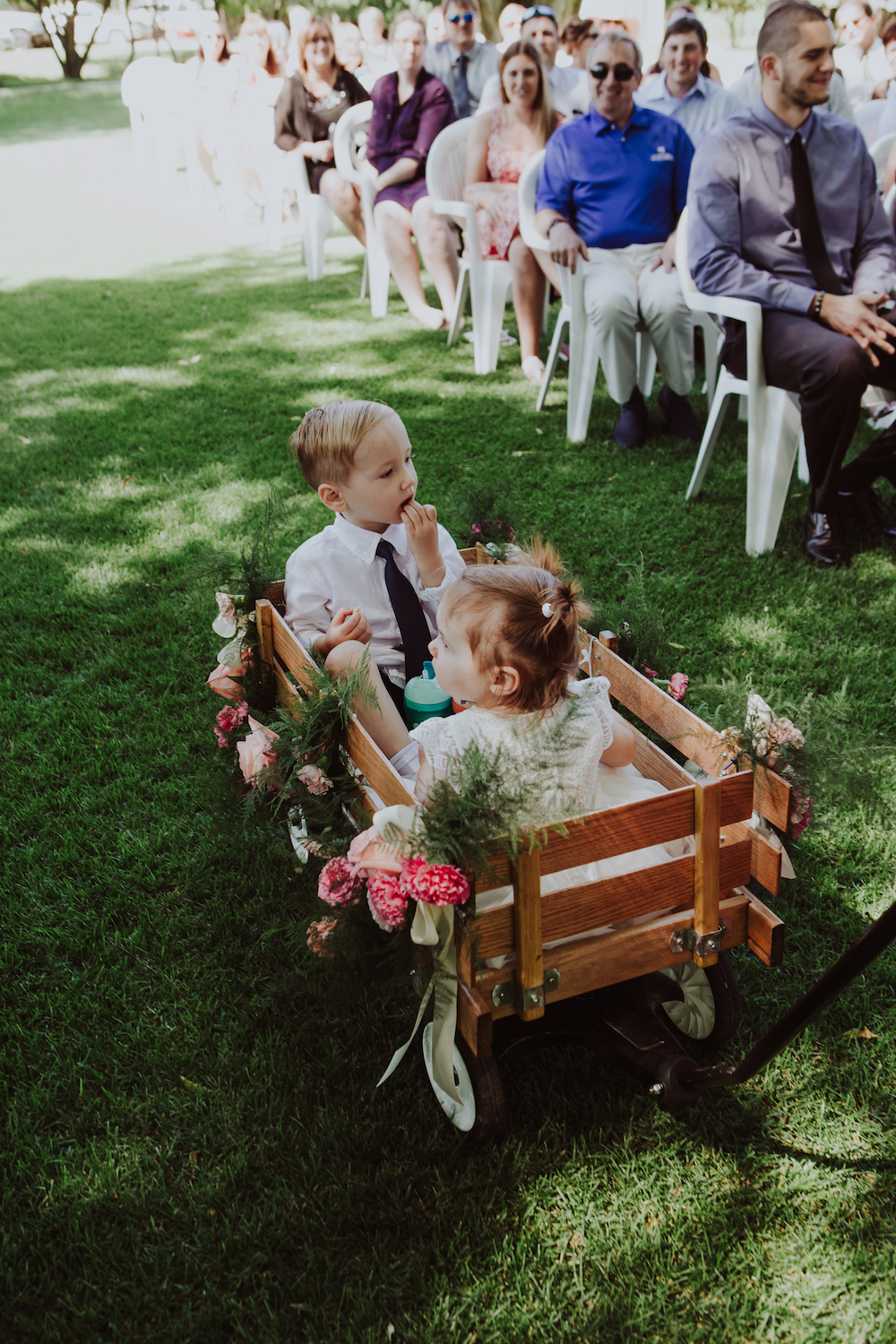 Flower Girl Wagon - Wedding Flower Ideas