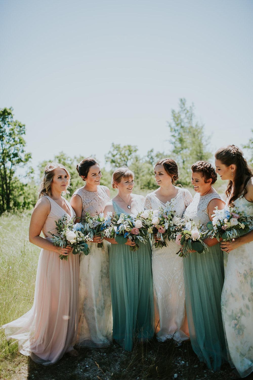 Blush and mint Wedding - Winnipeg Wedding Flowers