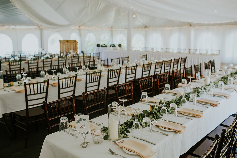 Greenery Garland Centrepieces - Wedding Florists Winnipeg