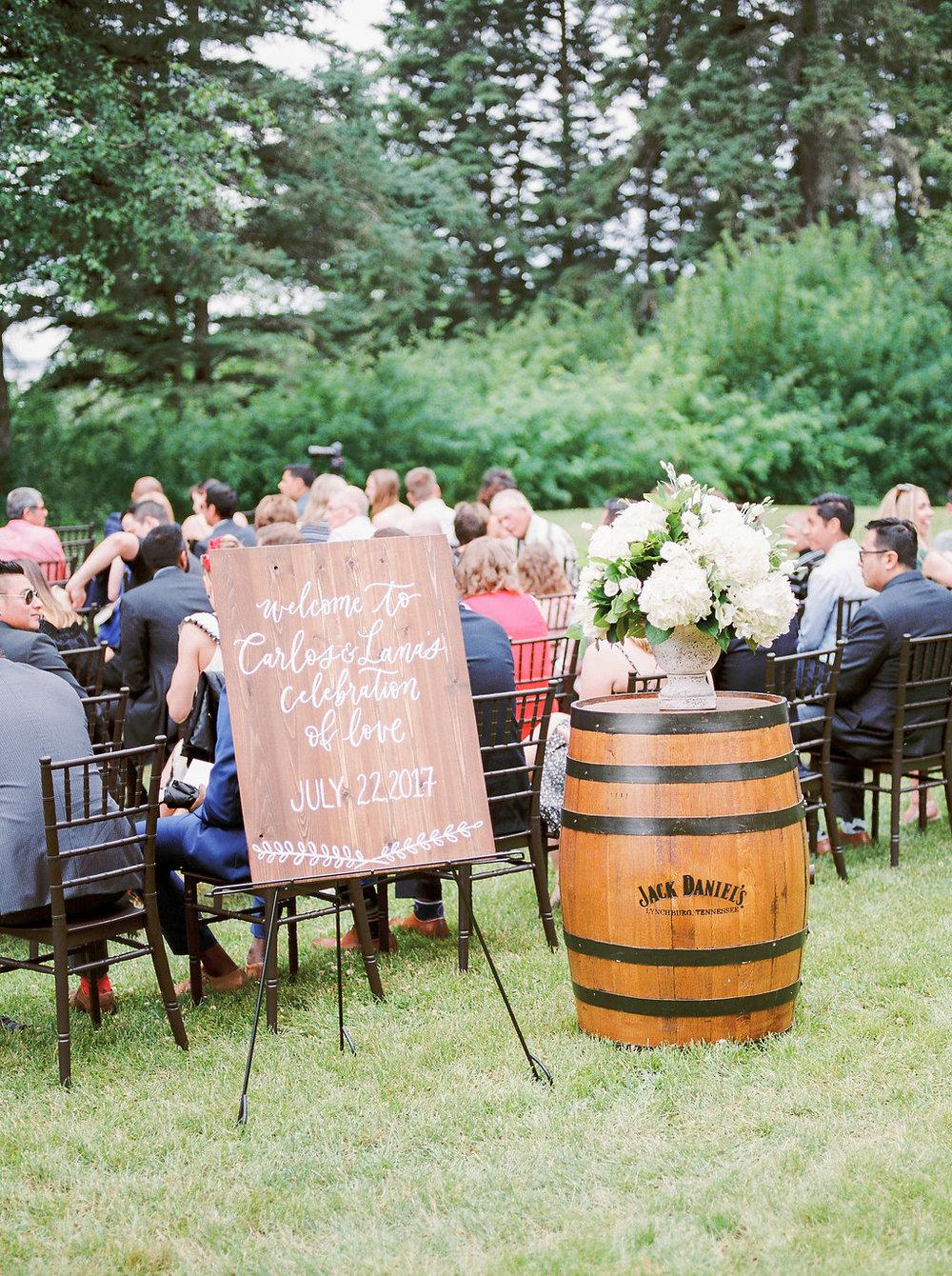 Elkhorn Manor Wedding - Outdoor Wedding Ceremony