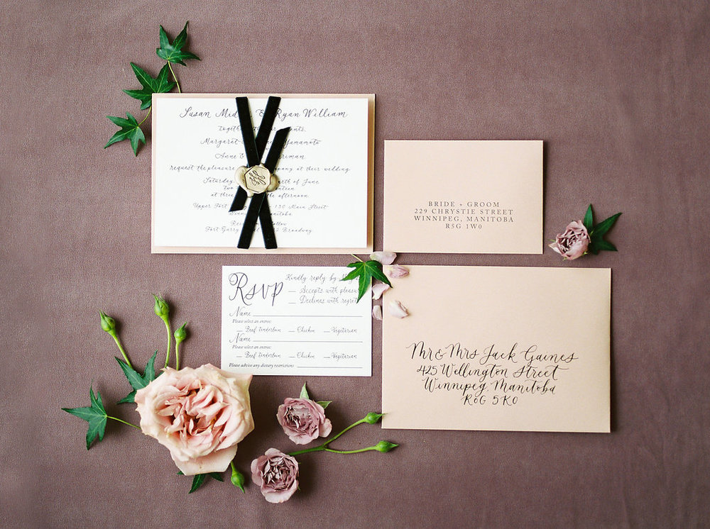 Calligraphy Wedding Invitations - Winnipeg Winter Weddings