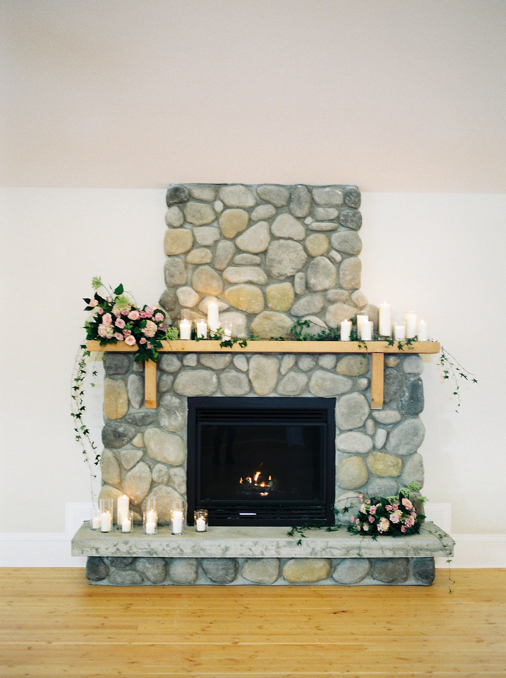 Whitetail Meadow - Fireplace Wedding Flowers