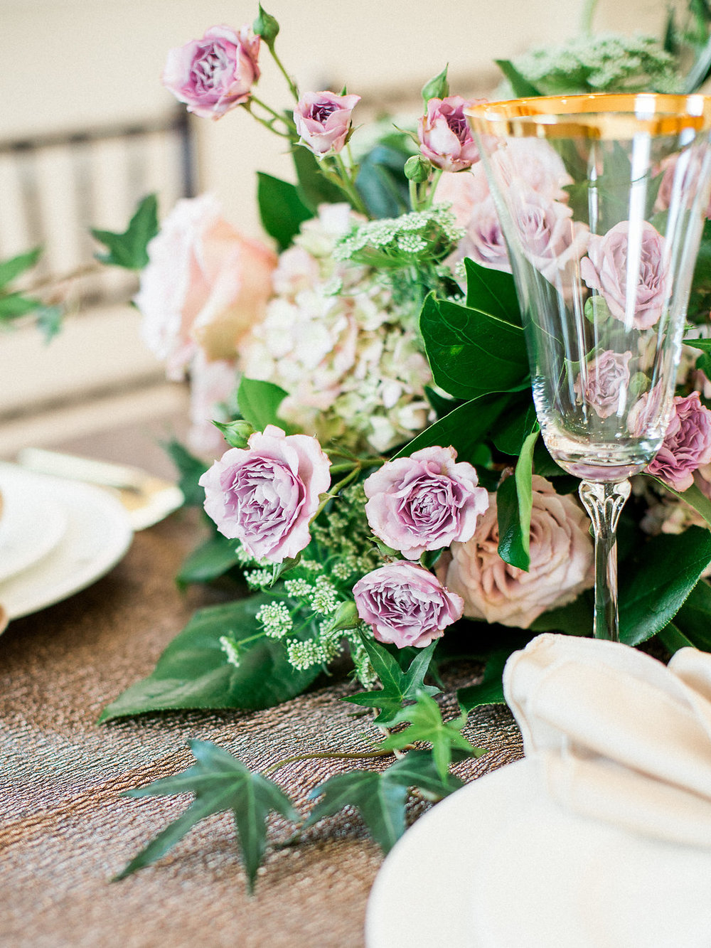 Elegant Winter Wedding - Pastel Wedding Flowers
