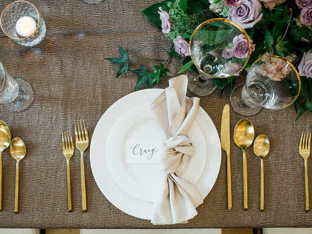 Gold and Lavender Wedding - Romantic Winter Wedding Decor