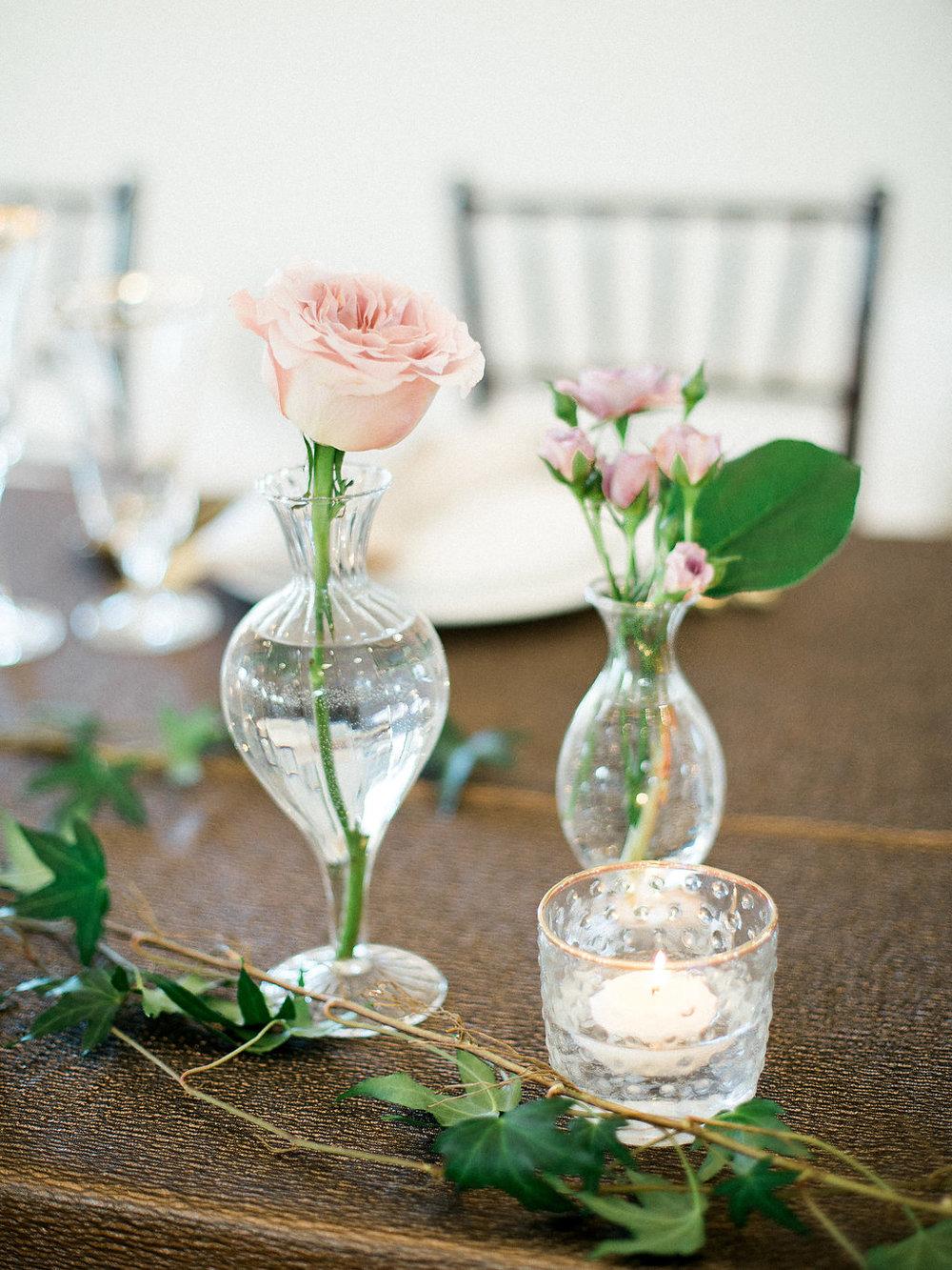 Stem Vase Centrepieces - Winnipeg Wedding Florists