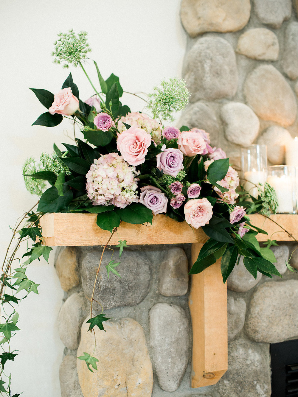 Whitetail Meadow Fireplace - Fireplace Wedding Flowers