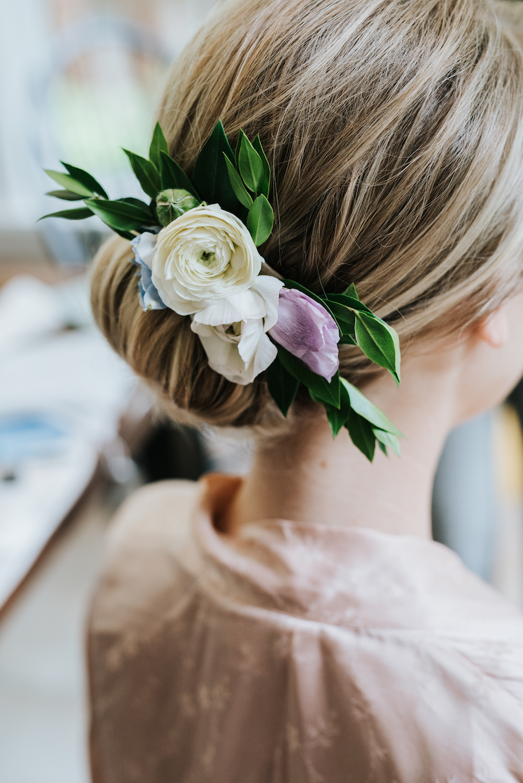 Flower Comb for Bridal Hair - Wedding Flowers Winnipeg