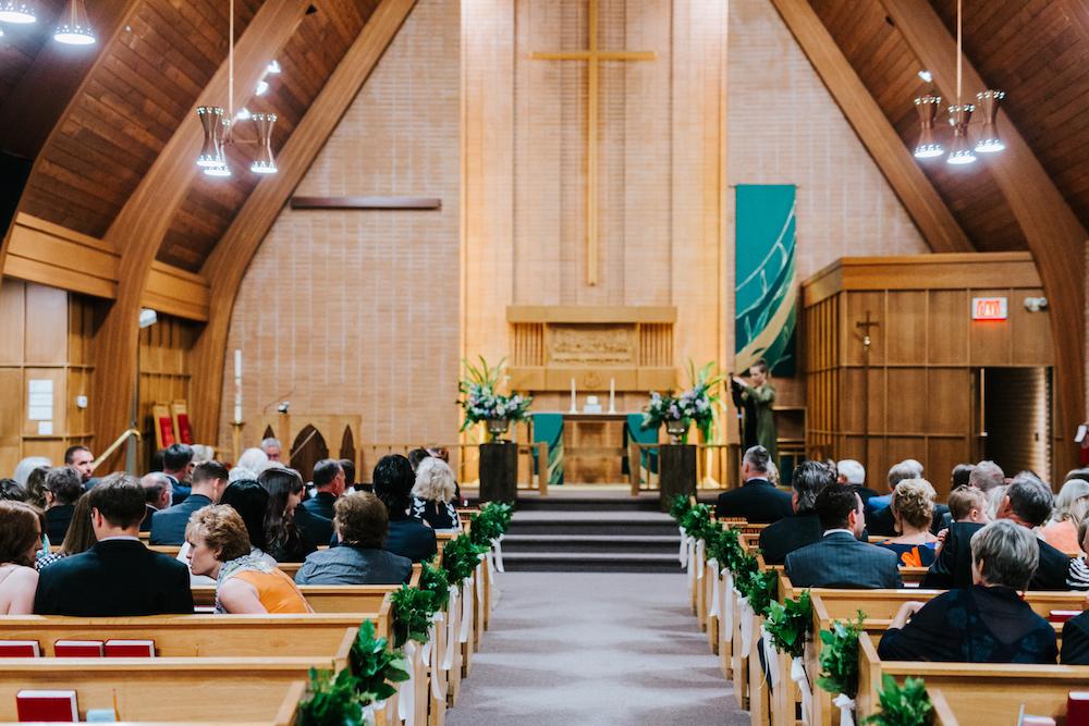 Greenery Aisle Bouquets - Church Wedding Ceremonies