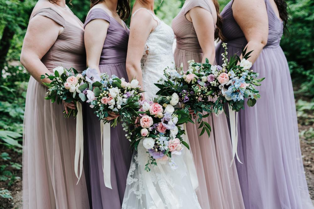Lavender Bridesmaid Dresses - Wedding Florists in Winnipeg