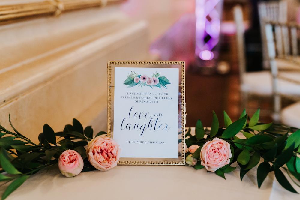 Fort Garry Hotel Wedding - Wedding Thank you Signage