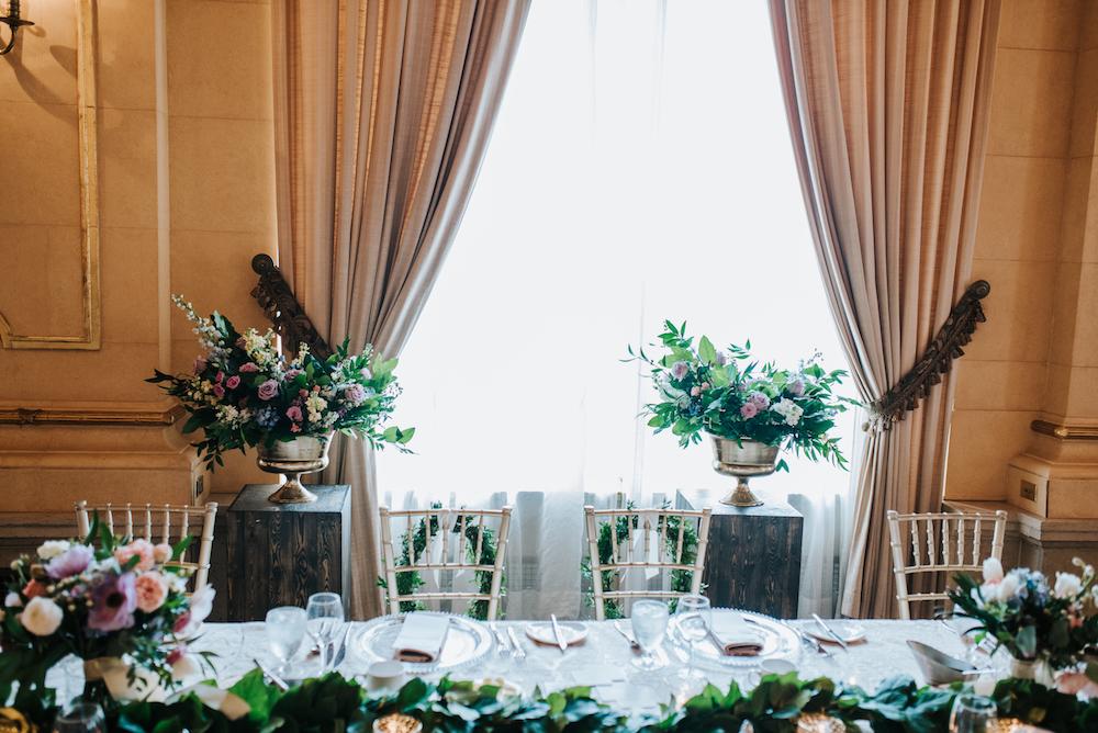 Head Table Wedding Decor - Fort Garry Hotel Wedding
