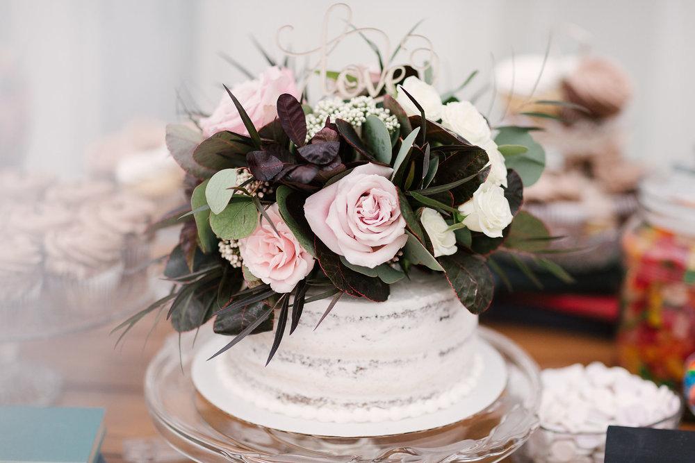 Floral Cake Topper - Winnipeg Wedding Flowers