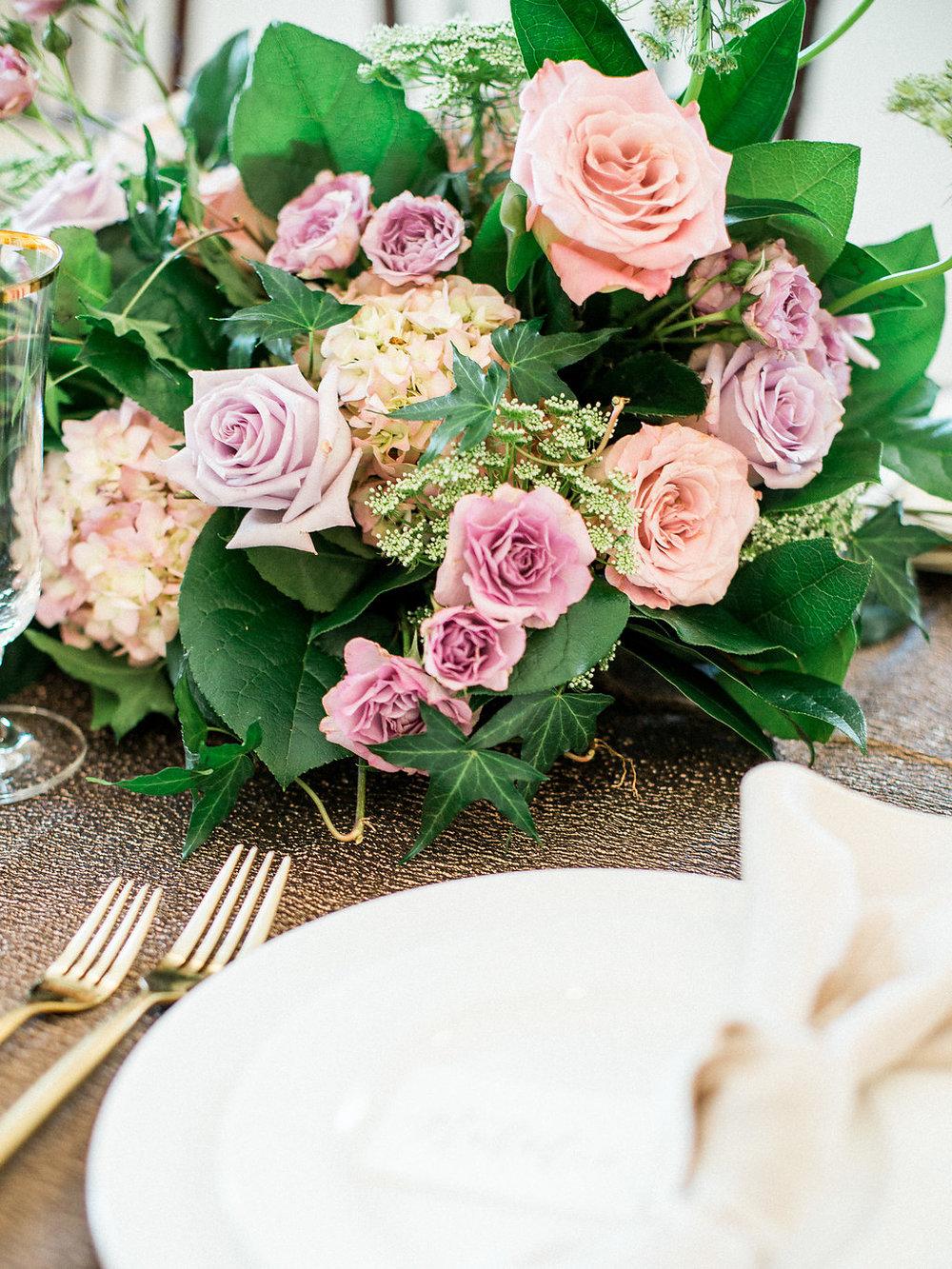Rose Wedding Centrepiece - Wedding Florists Winnipeg