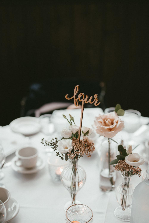 Stem Vase Centrepieces - Budget Friendly Wedding Flowers