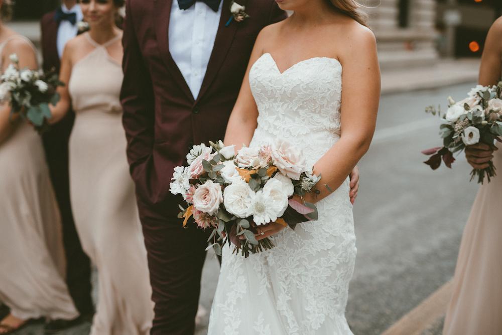 Garden Inspired Wedding Bouquet - White Bridal Bouquet