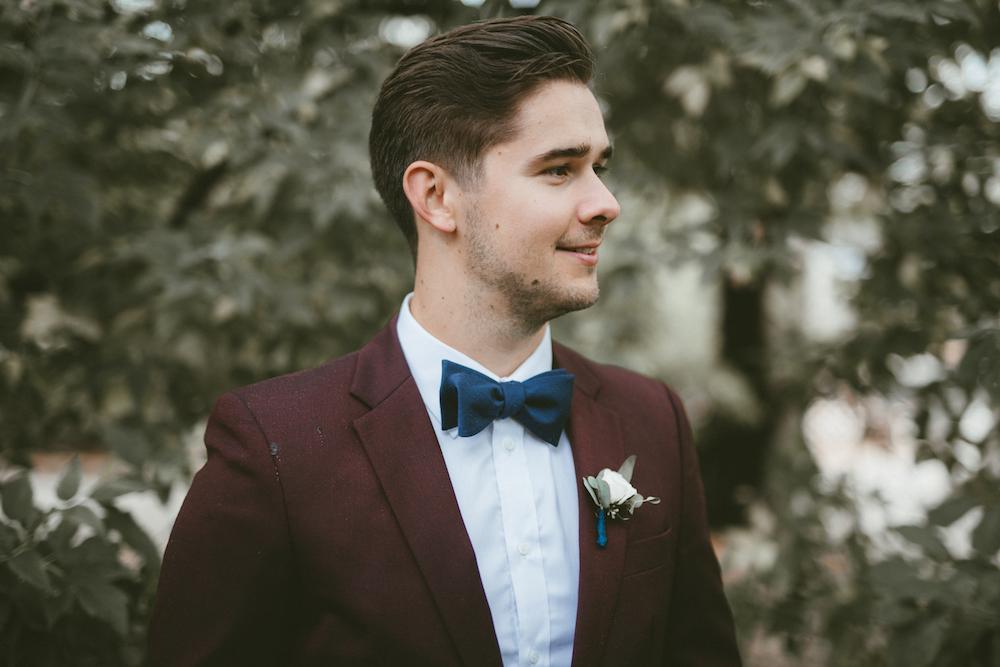 Burgundy Groom Suit - Blush and Burgundy Wedding