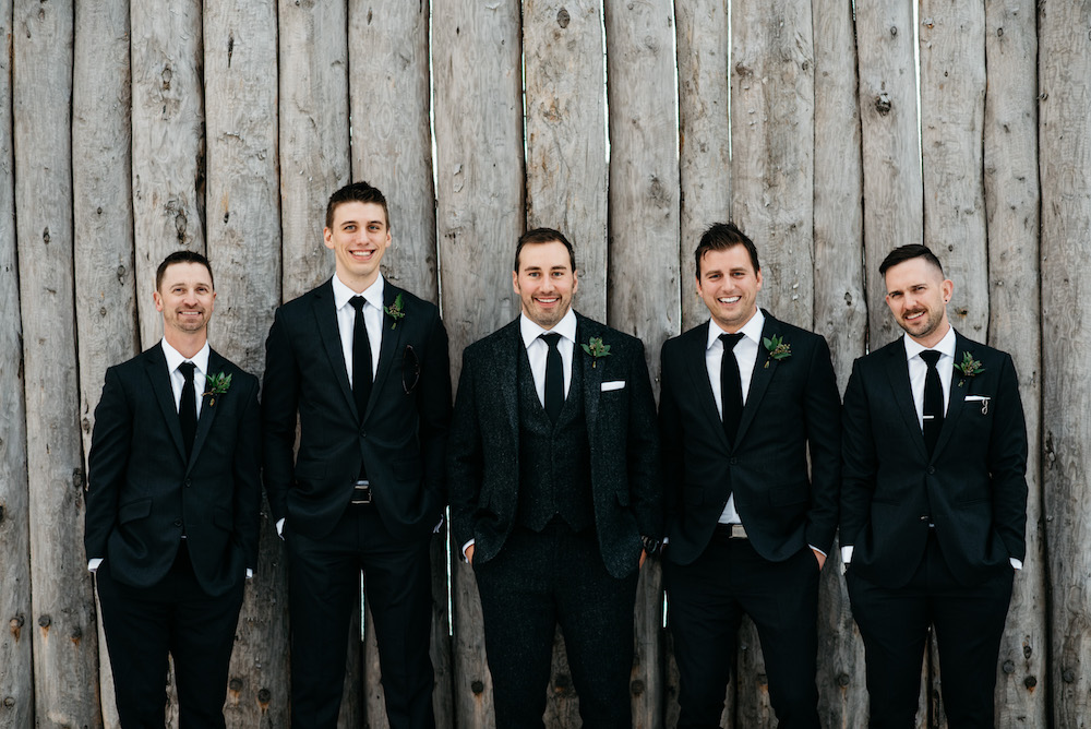 Greenery Boutonnieres - Winnipeg Wedding Florists