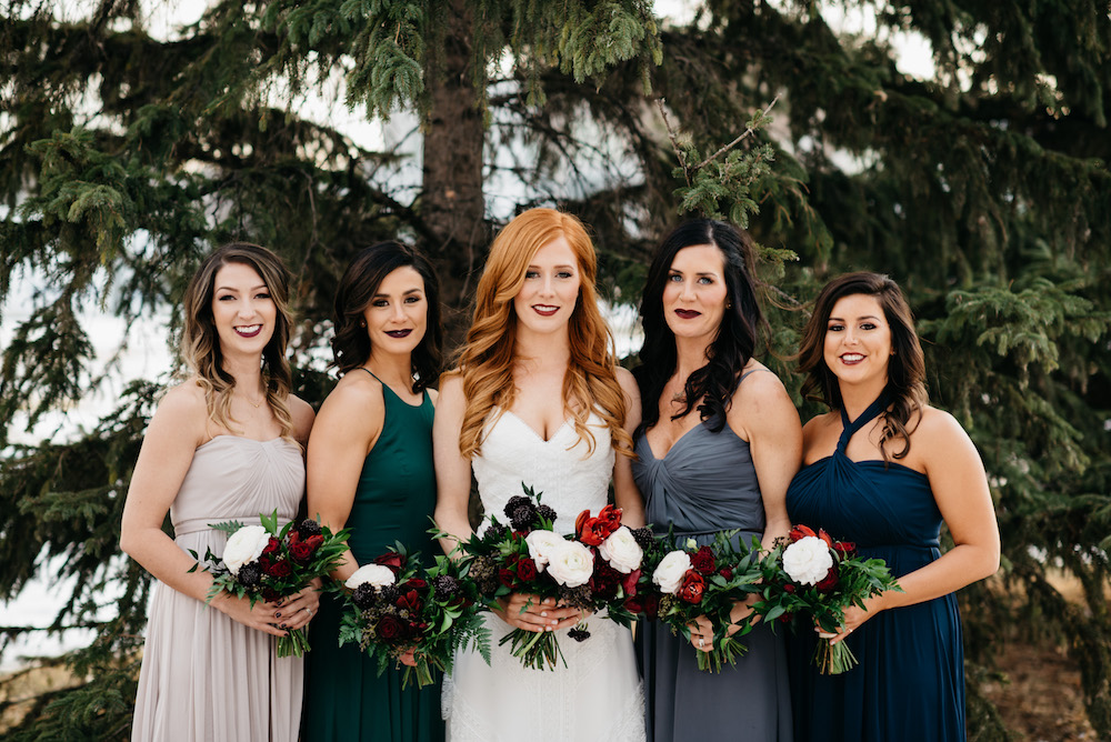 Jewel Tone Bridesmaid Dresses - Winnipeg Wedding Designer