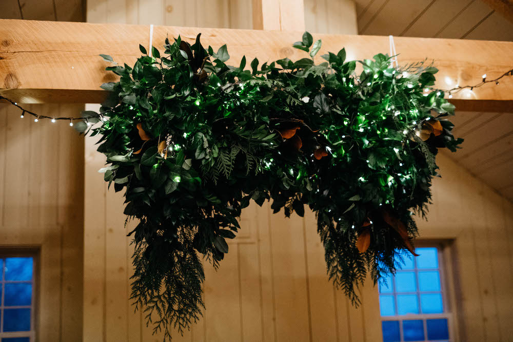 Hanging Greenery Wedding Installation - Wedding Flowers Winnipeg