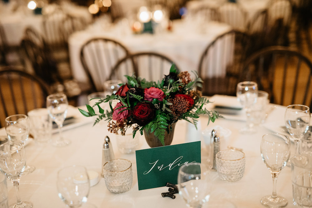 Jewel Tone Wedding Centrepieces - Winnipeg Wedding Florist