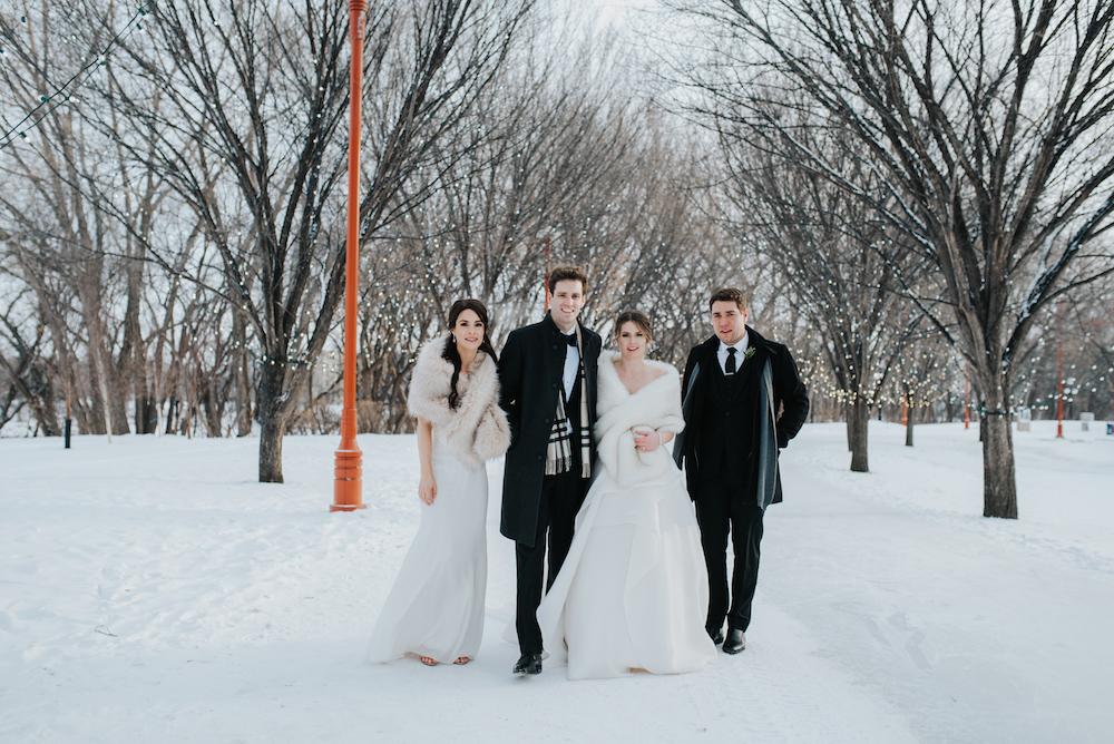 Winter Wedding in Winnipeg - The Forks Wedding Photos