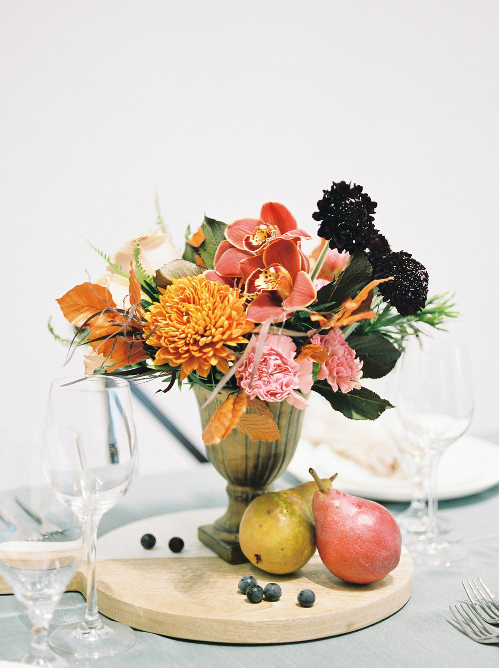 Warm Fall Wedding Decor - Autumn Wedding Flowers
