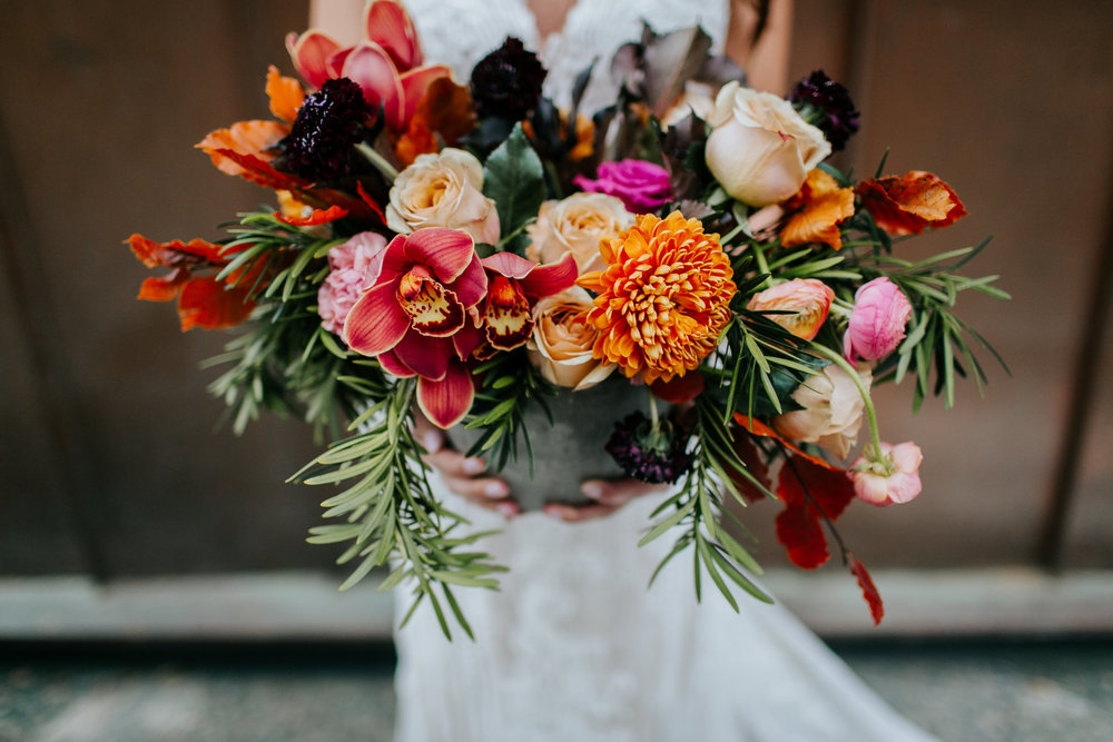 Garden Style Wedding bouquet - Fall Wedding Bouquets