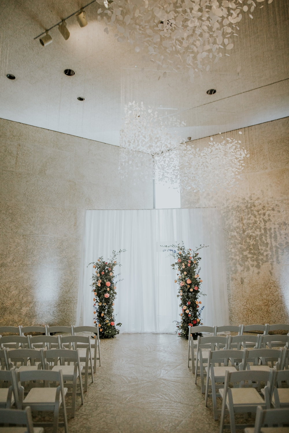 Vertical Flower Garden Wedding Ceremony - Stone House Creative