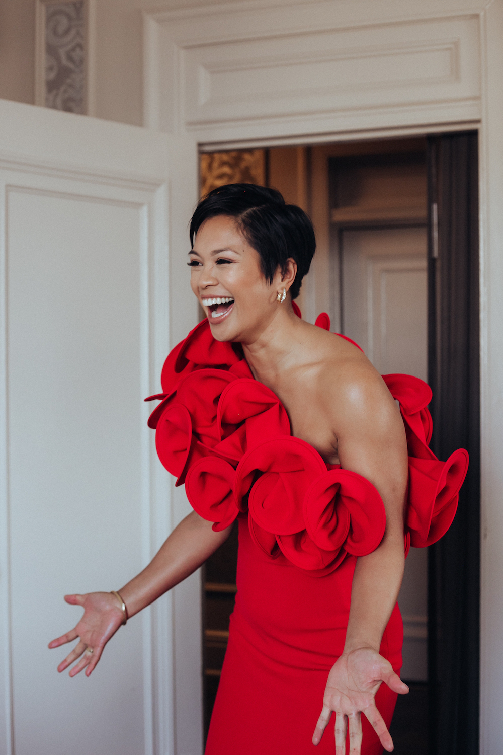 Unique Red Wedding Dress - Modern Wedding in Winnipeg