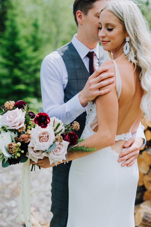 Wedding FlowersWinnipeg - Blush and Burgundy Bridal Bouquet