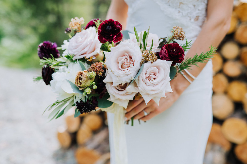 Garden Inspired Wedding Bouquet - Wedding Flowers Winnipeg