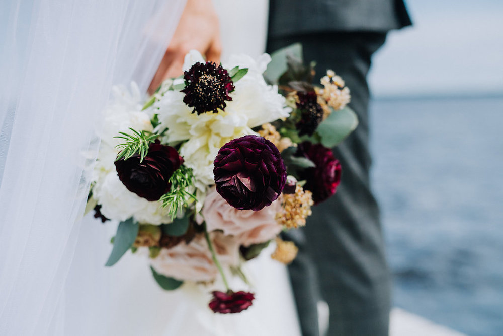 Burgundy and Blush Wedding Flowers - Wedding Florists in Winnipeg