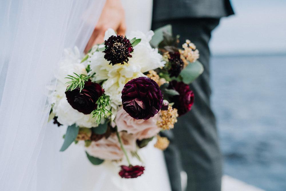 Burgundy and Blush Wedding Flowers - Wedding Florists in Winnipeg