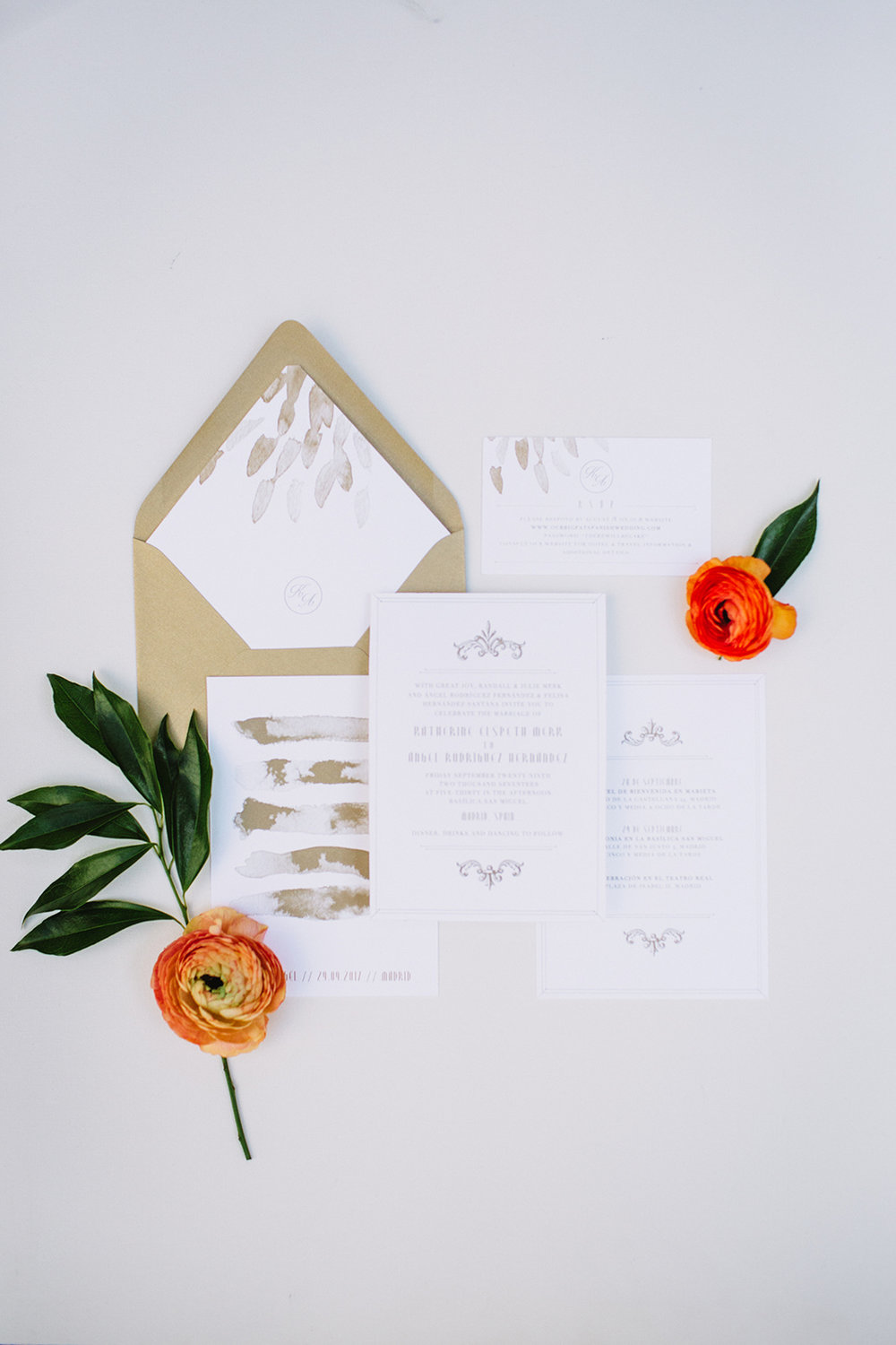 Gold Wedding Invitations - Planning a Wedding in Winnipeg