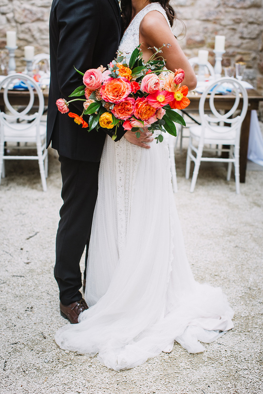 Coral and Orange Wedding Bouquet - Wedding Flowers Winnipeg