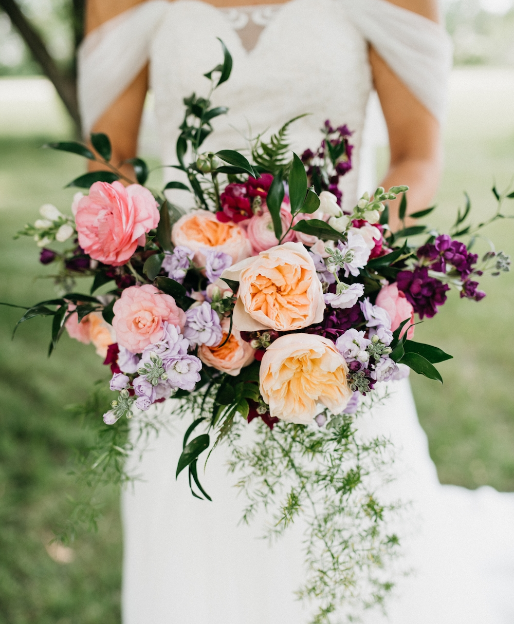 Vibrant Bridal Bouquet - Wedding Flowers Winnipeg