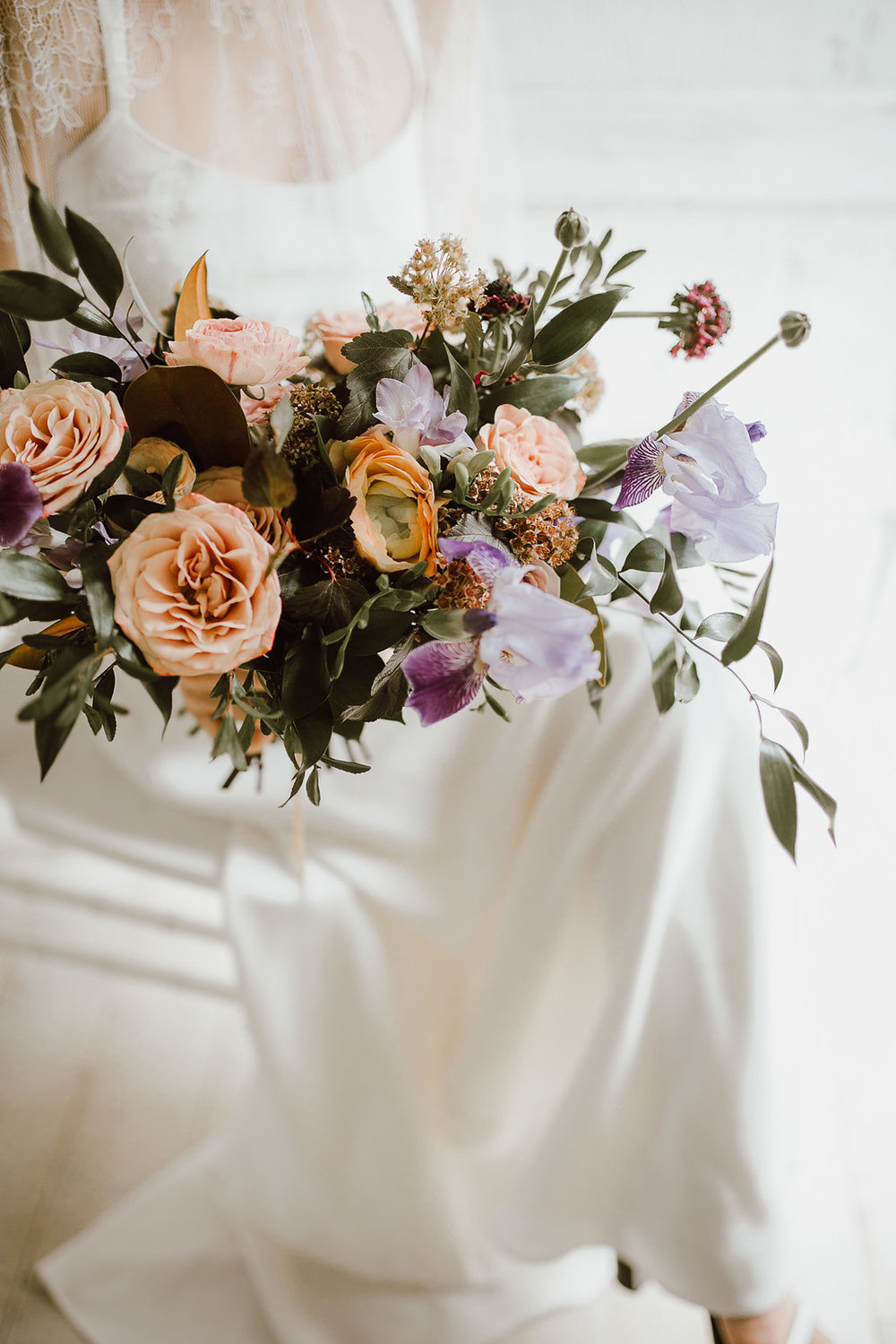 Mauve and Tan Wedding Bouquet - Wedding Florist in Winnipeg