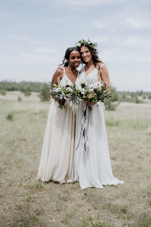 Grey Bridal Gown - Moody Wedding Ideas