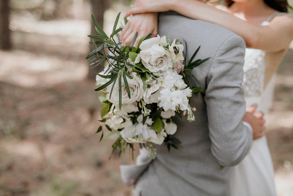 Rose and Sweet Pea Bridal Bouquet - Winnipeg's best Wedding Florist