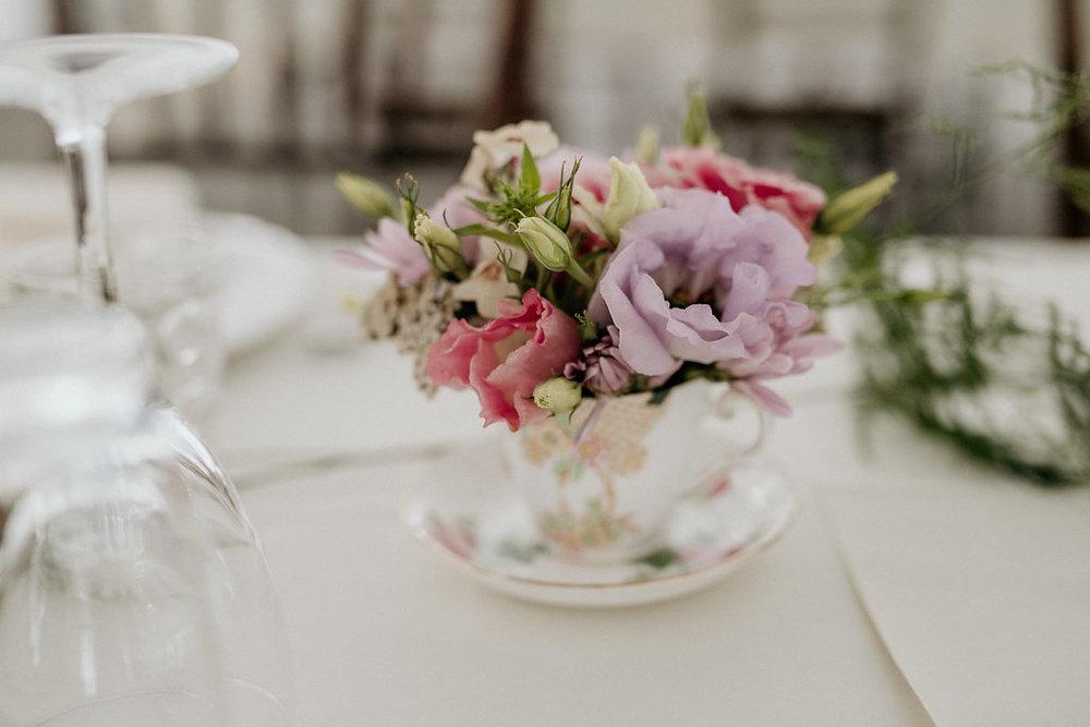 Teacup Wedding Centrepieces - Floral Centrepiece Ideas