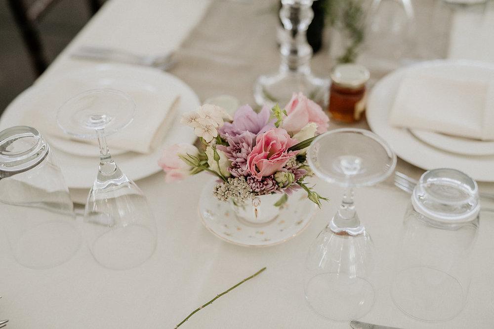 Flower Teacup Centrepieces - Wedding Flowers in Winnipeg