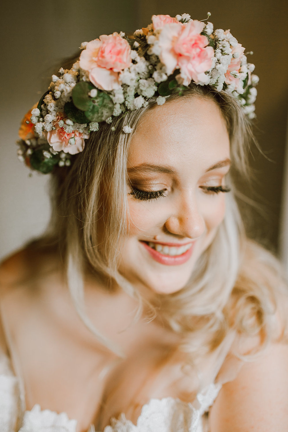Baby's Breath Floral Crown - Whimsical Wedding Flowers