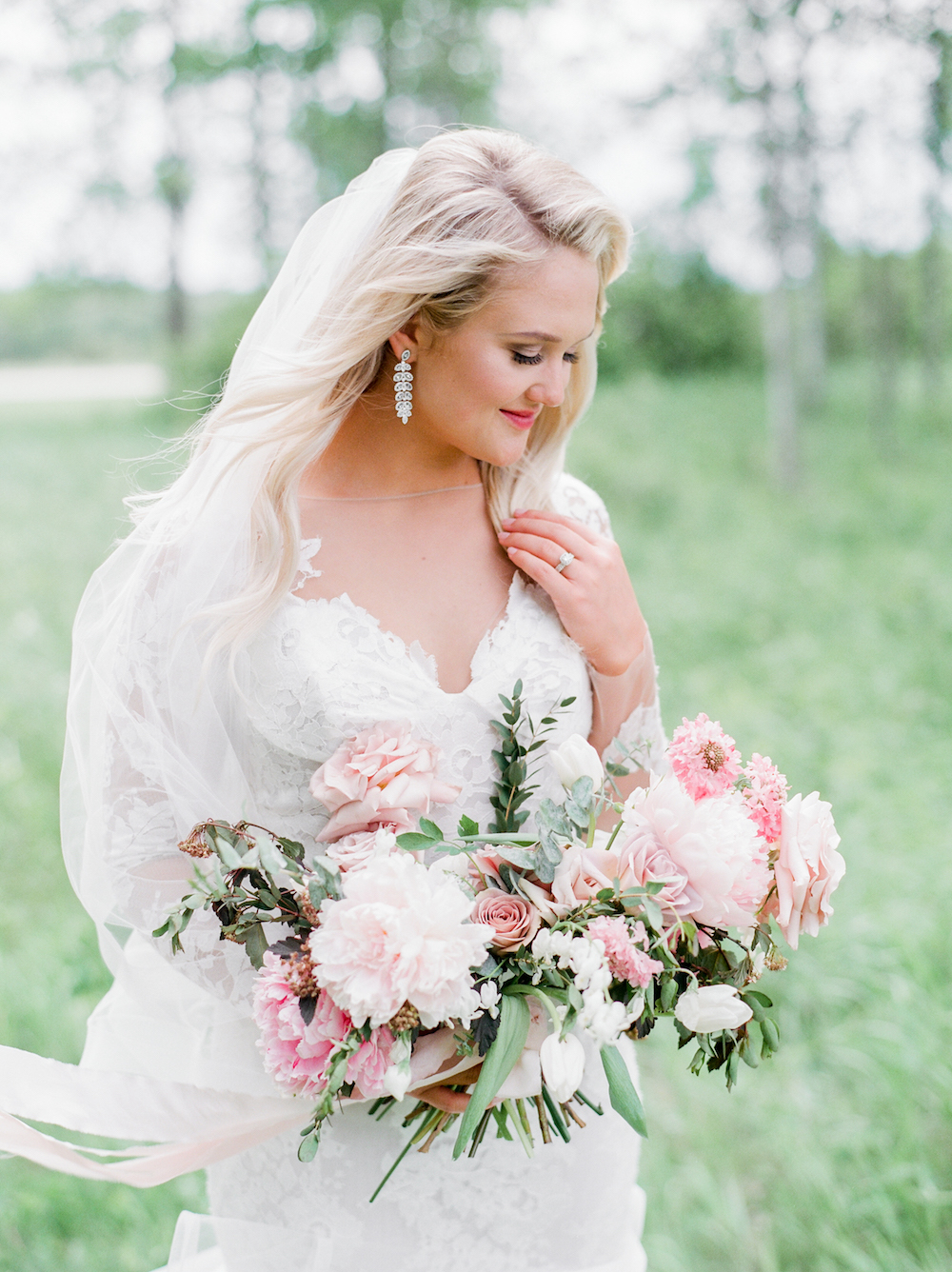 Blush Peony Bridal Bouquet - Stone House Creative