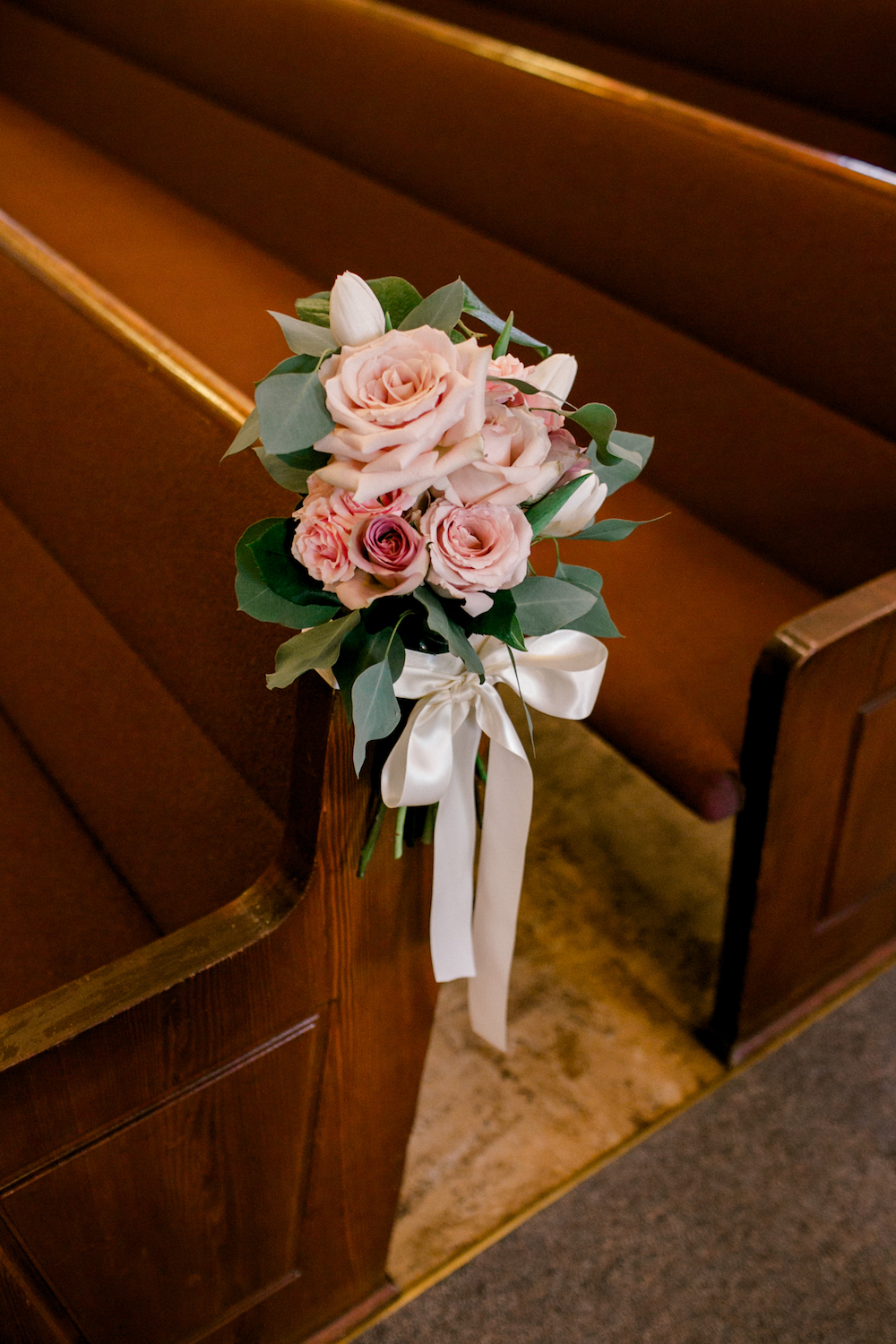 Ceremony Pew Bouquets - Wedding Florists Winnipeg