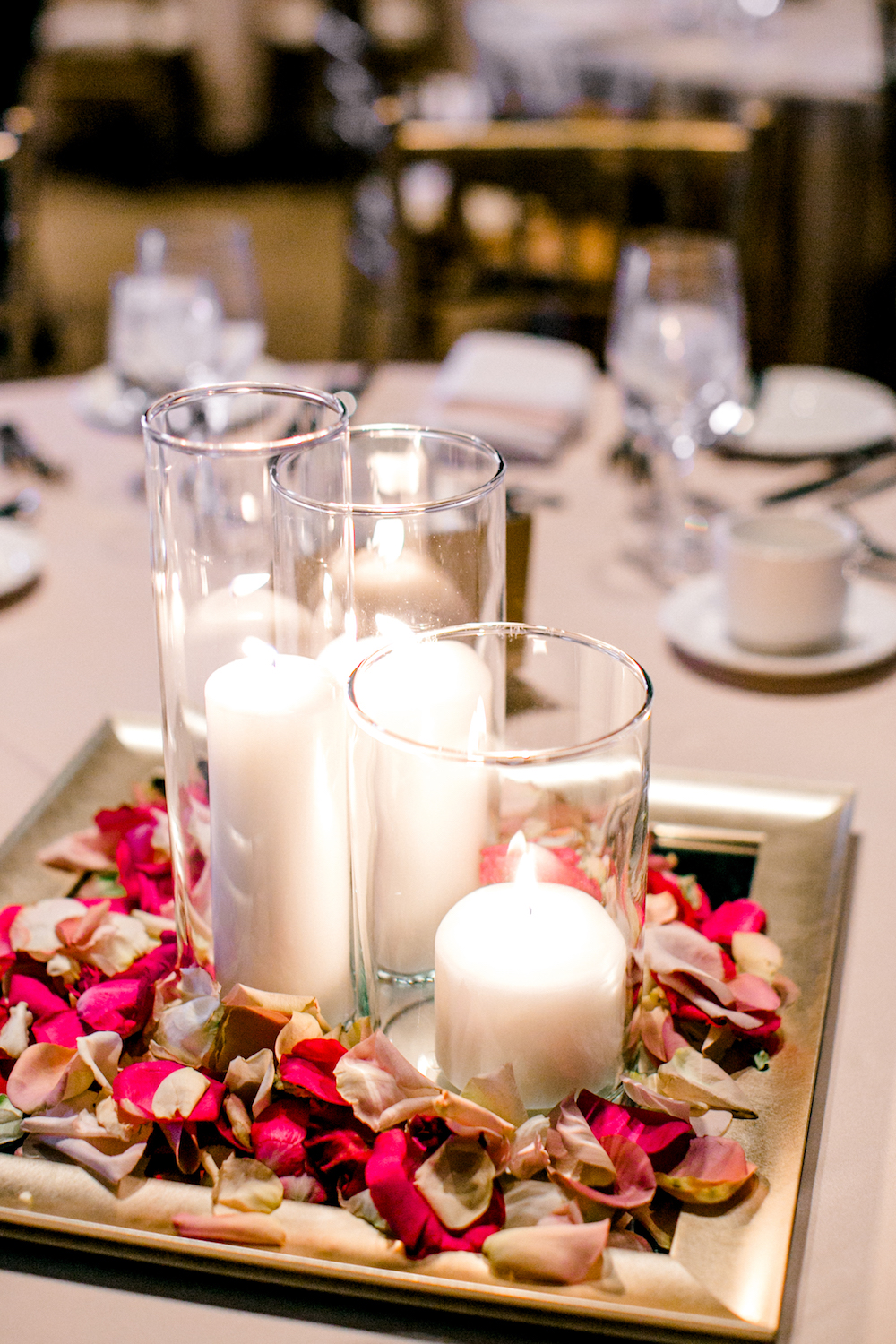 Candle Wedding Centrepieces - Ballroom Wedding Winnipeg